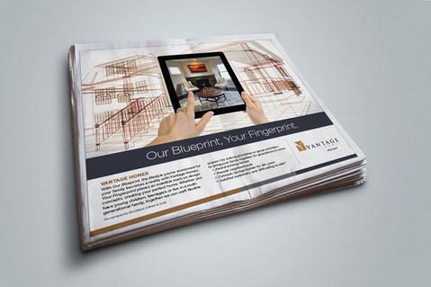 Vantage Homes Print Campaign