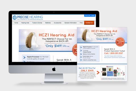 Precise Hearing Logo, Branding & Collateral