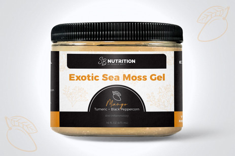 SB Nutrition Exotic Sea Moss Gel Packaging