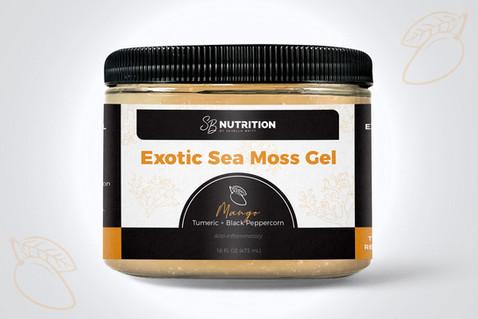 SB Nutrition Exotic Sea Moss Gel Packaging