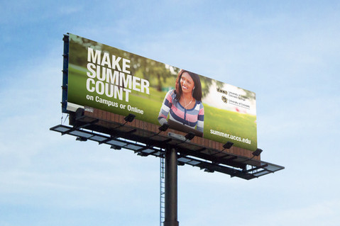 University of Colorado Colorado Springs Summer Billboards