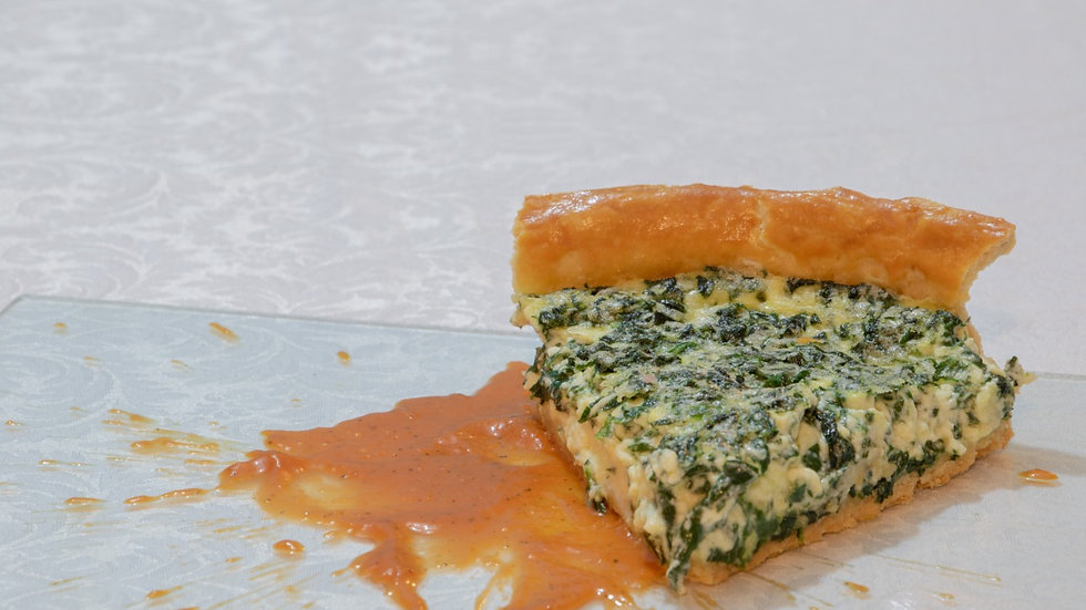 Tarta Cremosa de Espinaca (Chef Eduardo Barrera)