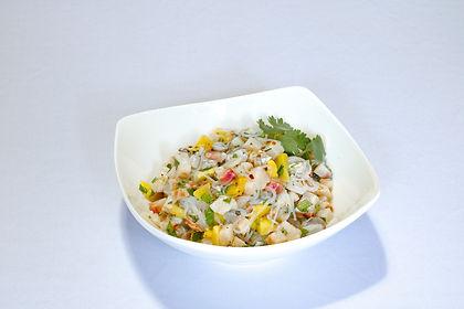 Ceviche mixto de pescado oriental