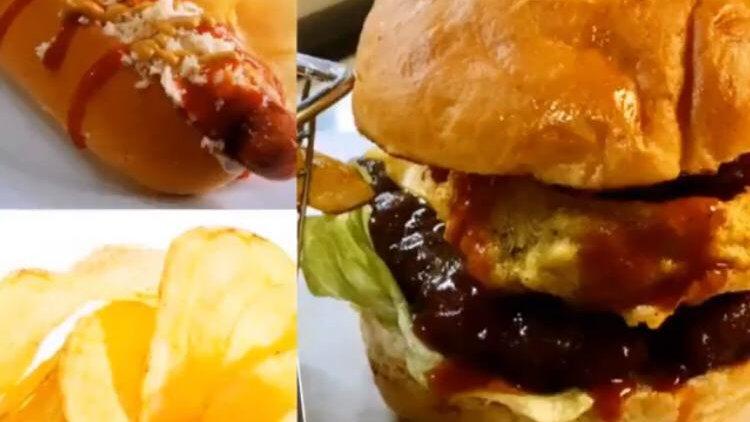 1 hamburguesa sencilla + 1 hot dog especial + 1 papás chips