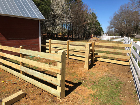 Corral wood fencing