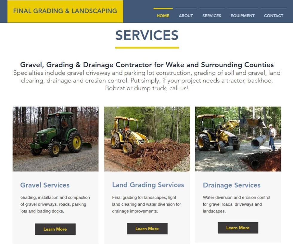 Final Grading & Landscaping