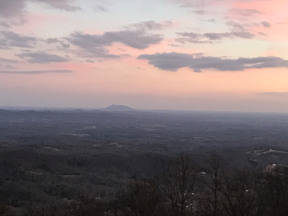 Down-mountain view of NC.