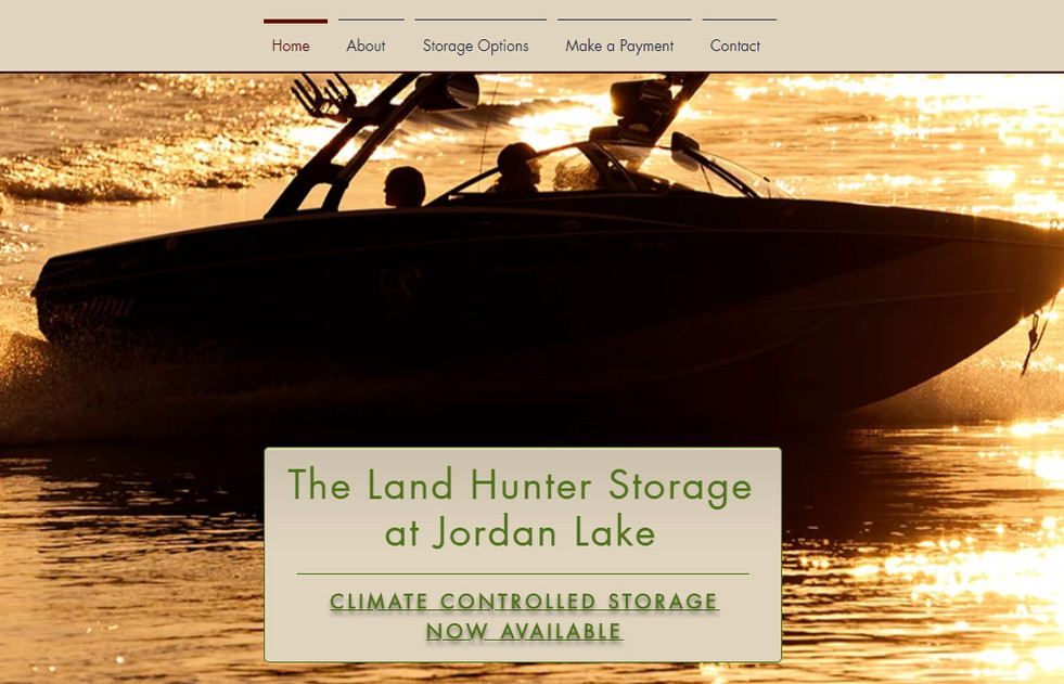 Land Hunter Storage at Jordan Lake