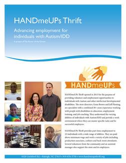 HandMeUps Thrift Store Brochure