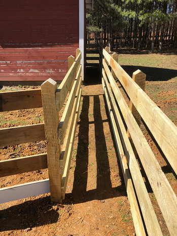 Wooden horse fencing