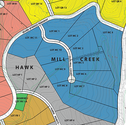 Beautiful mountain lots for sale in Mill Creek