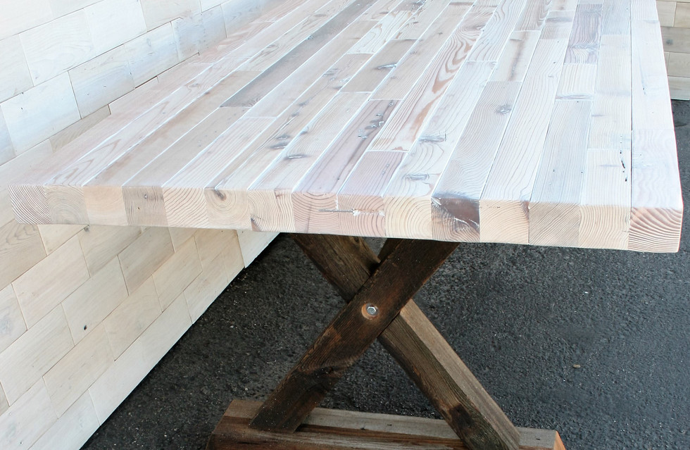 Reclaimed Wood Dining Table with Barn Wood