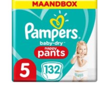 Pampers Baby-Dry Pants Luierbroekjes - Maat 5 (12-17 kg) - 132 stuks - Maandbox € 32,75