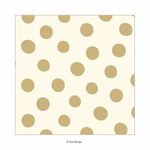Cream Polka Dot