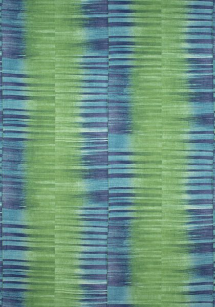 Mekong Stripe Green and Blue F910091