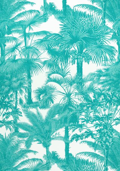 Palm Botanical Turquoise F910101