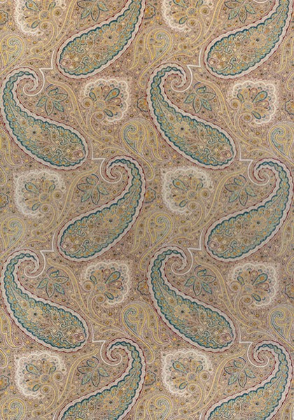 Sherrill Paisley Beige and Teal F985076