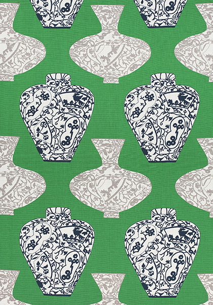 Imari Vase Emerald Green F913125