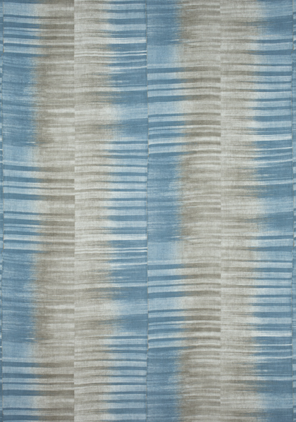 Mekong Stripe Spa Blue and Beige F910092