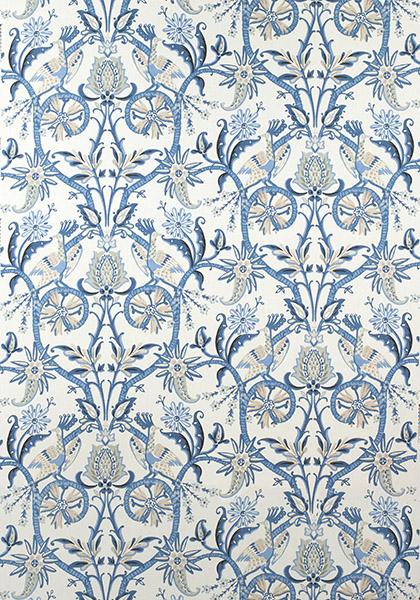Peacock Garden Blue F924356