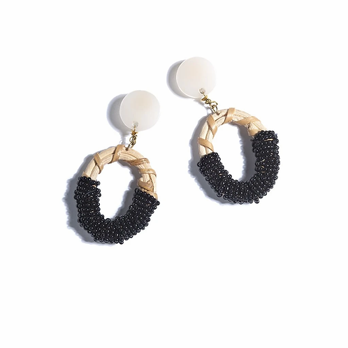 Black Gabrielle Earrings