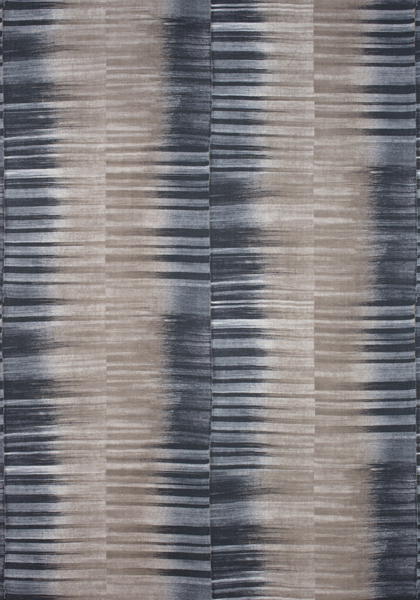 Mekong Stripe Charcoal and Taupe F910089