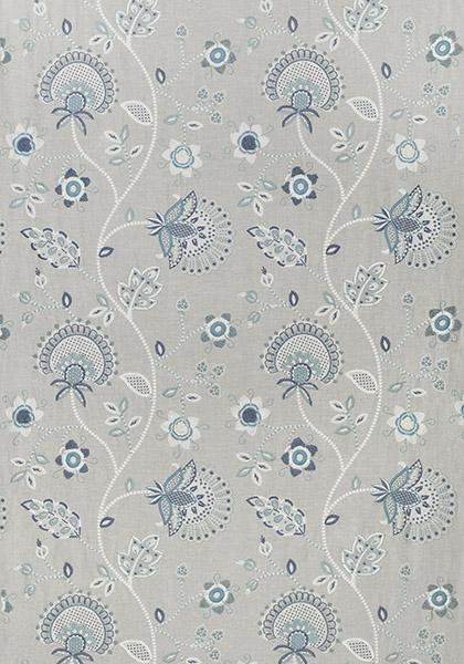 Portofino Embroidery Blue and Aqua W7243