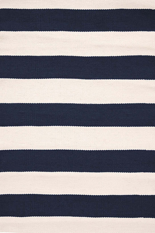 Catamaran Stripe Navy/Ivory Rug