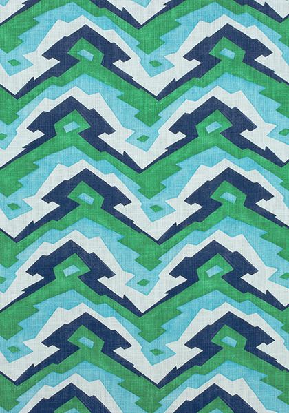 Desco Mountain Blue and Green F913076