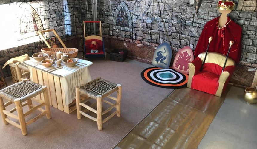 Au Moyen âge, thème de jeu symbolique