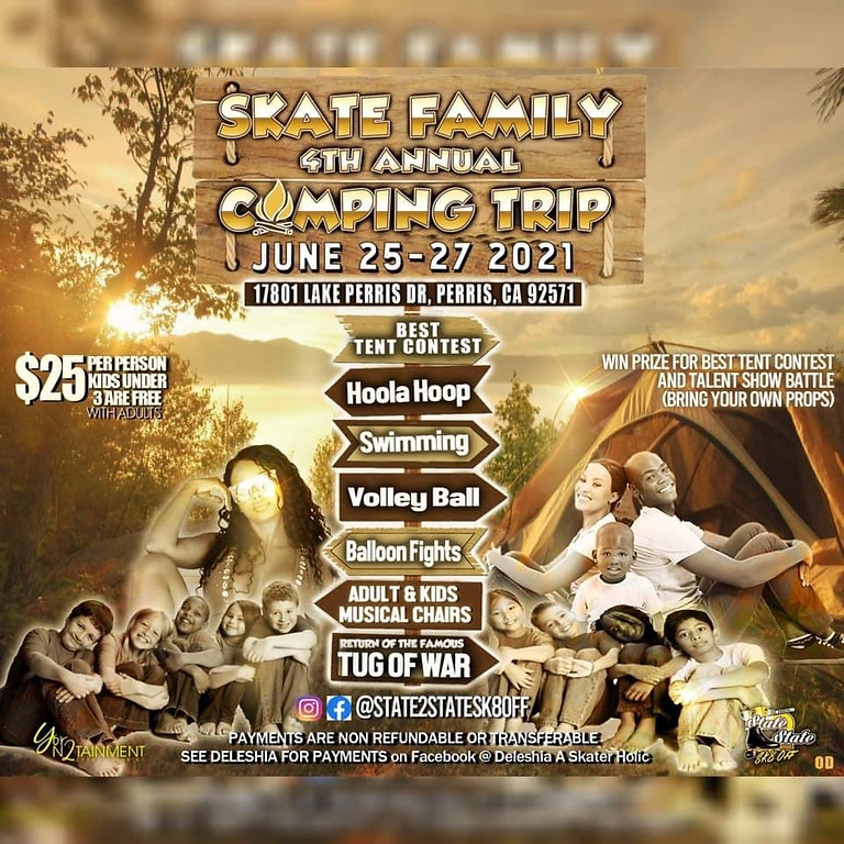 Skate Family Camping Trip 2021