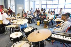 Drumming workshop with Frank Paco