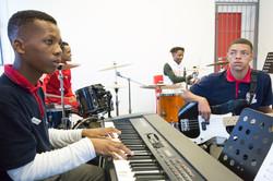 Junior band practice