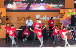 Our Bboys performing