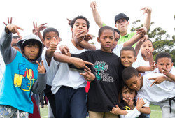 Our Bboys at a popup event