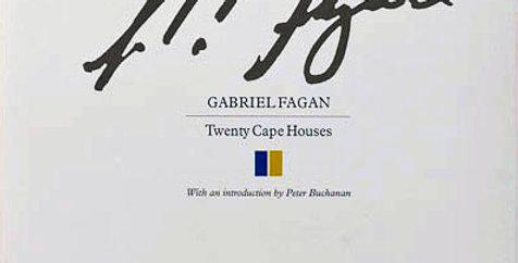 Gabriel Fagan - Twenty Cape Houses