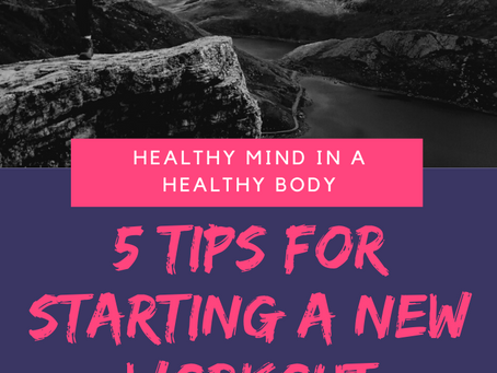 5 Tips for Starting a New Workout Routine