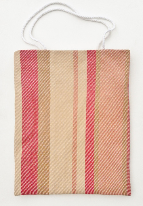 24a66146d Red Striped Canvas Tote Bag, Reversible, 31x38cm