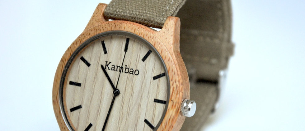 Montre Stanley bambou