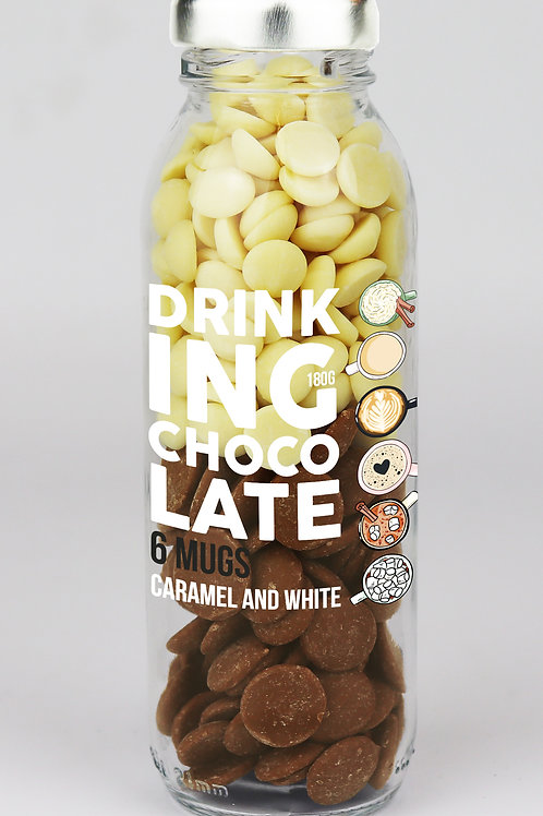 Caramel and white drinking chocolate