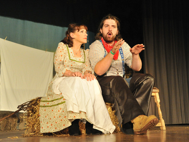 Oklahoma | Aunt Eller & Curly | Edge Hill Players