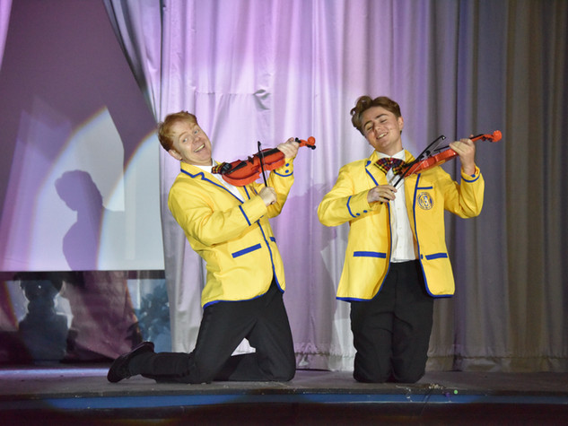 Duncan Rodger & Tommy Rodger as Don Lockwood & Cosmo Brown  - Edge Hill Players