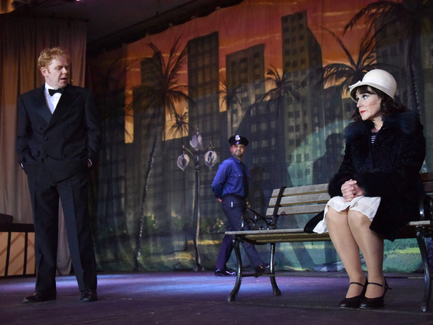 Duncan Rodger and Cathy Rodger as Don Lockwood and Kathy Selden - Edge Hill Players