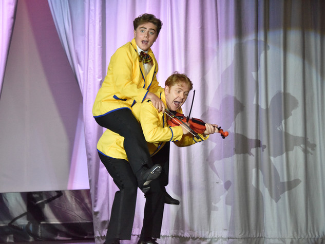 Tommy Rodger Duncan Rodger & Tommy Rodger as Don Lockwood & Cosmo Brown - Edge Hill Players