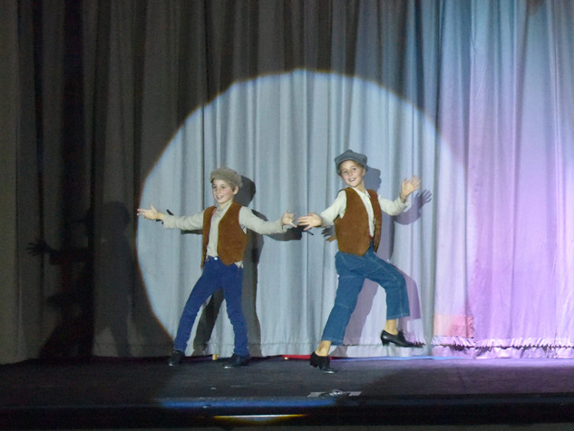 Matilda & Laurence Dalling as Young Don & Young Cosmo - Edge Hill Players