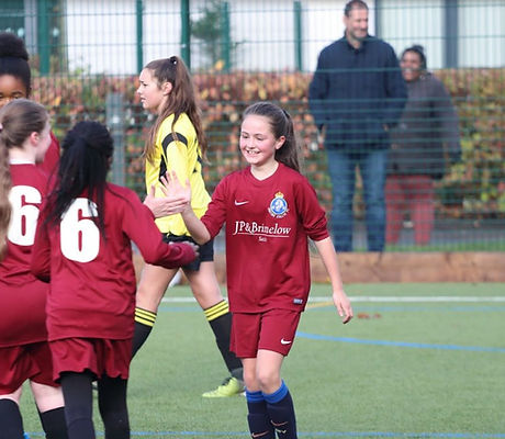 Kingsway Athletic FC Girls Football Training