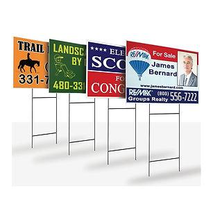 custom yard signs and display banners -