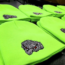 embroidered beanies and winter hats - cu