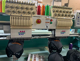 Embroidery Machine at We MakeT-Shirts racine wisconsin custom embroidery