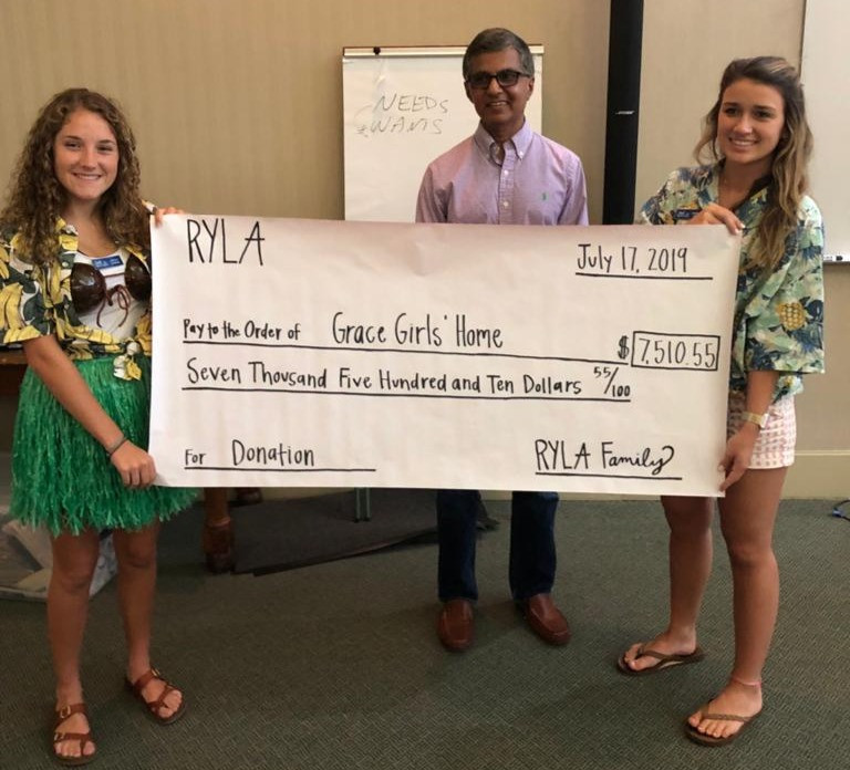 Grace Girls' Home Camp RYLA Donation